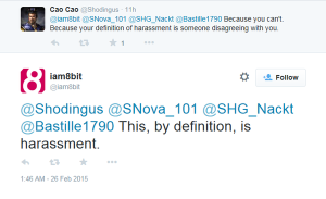 harassment tweet1